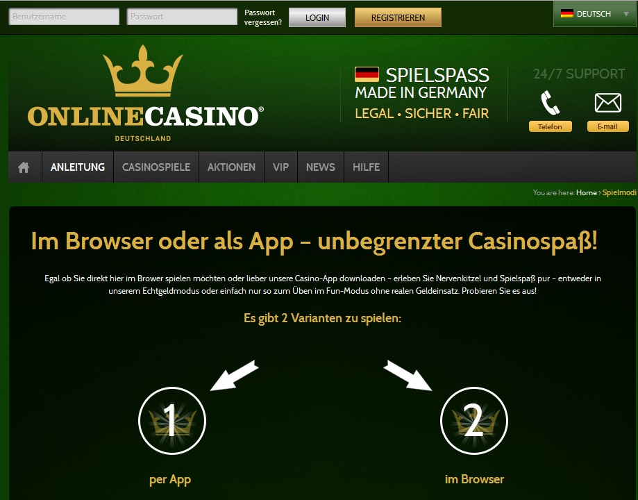 de online casino online games ohne download