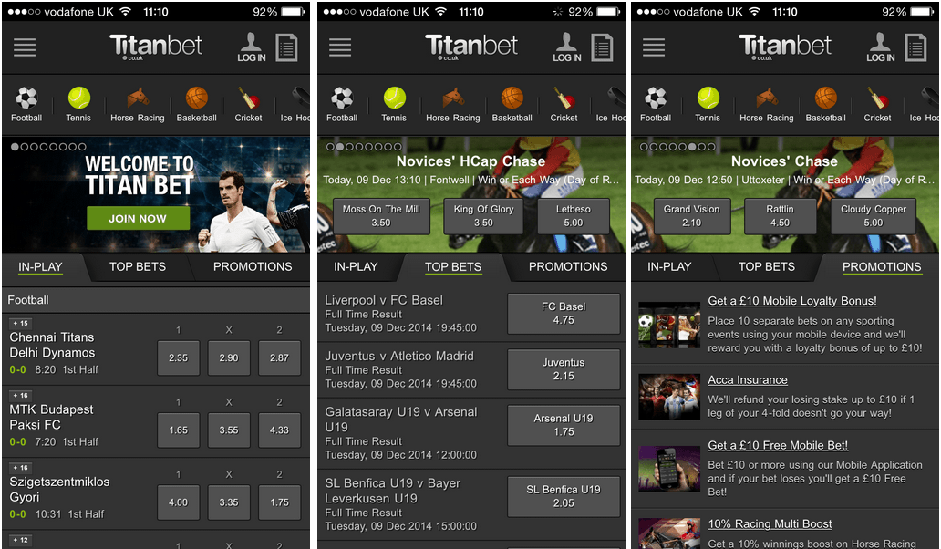 Titan-bet-app-home-page