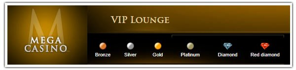 Screenshot der Mega Casino VIP Lounge