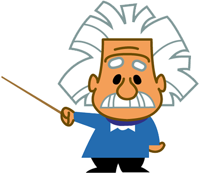 Cartoon von Albert Einstein