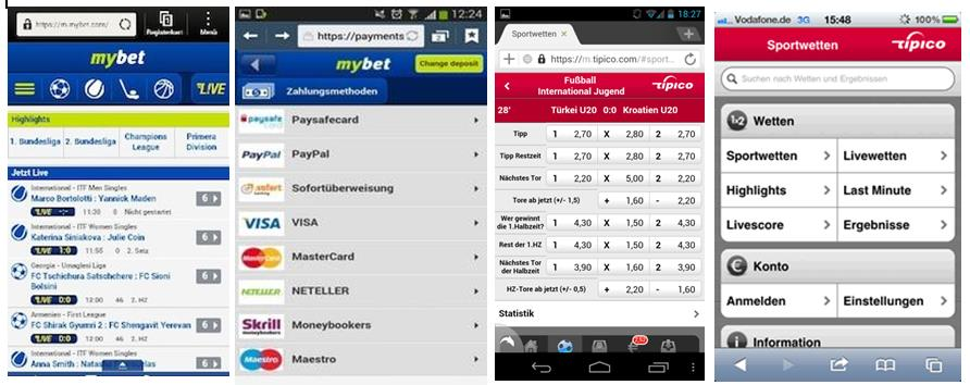 Mybet und tipico App und mobile Website