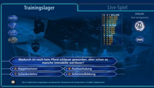 Screenshot des WWM Trainingslagers
