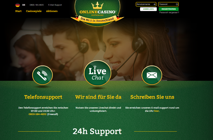 onlinecasino_deutschland_support screenshot