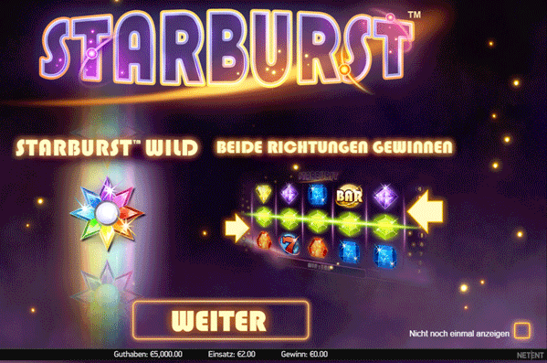 starburst-fun-modus screenshot