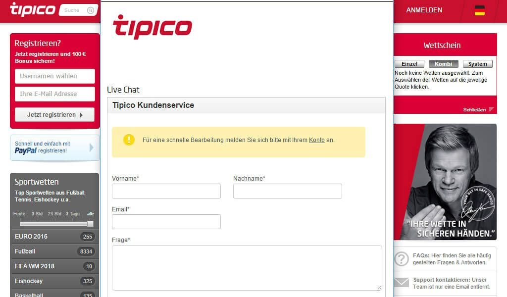 tipico-kundenservice-livechat